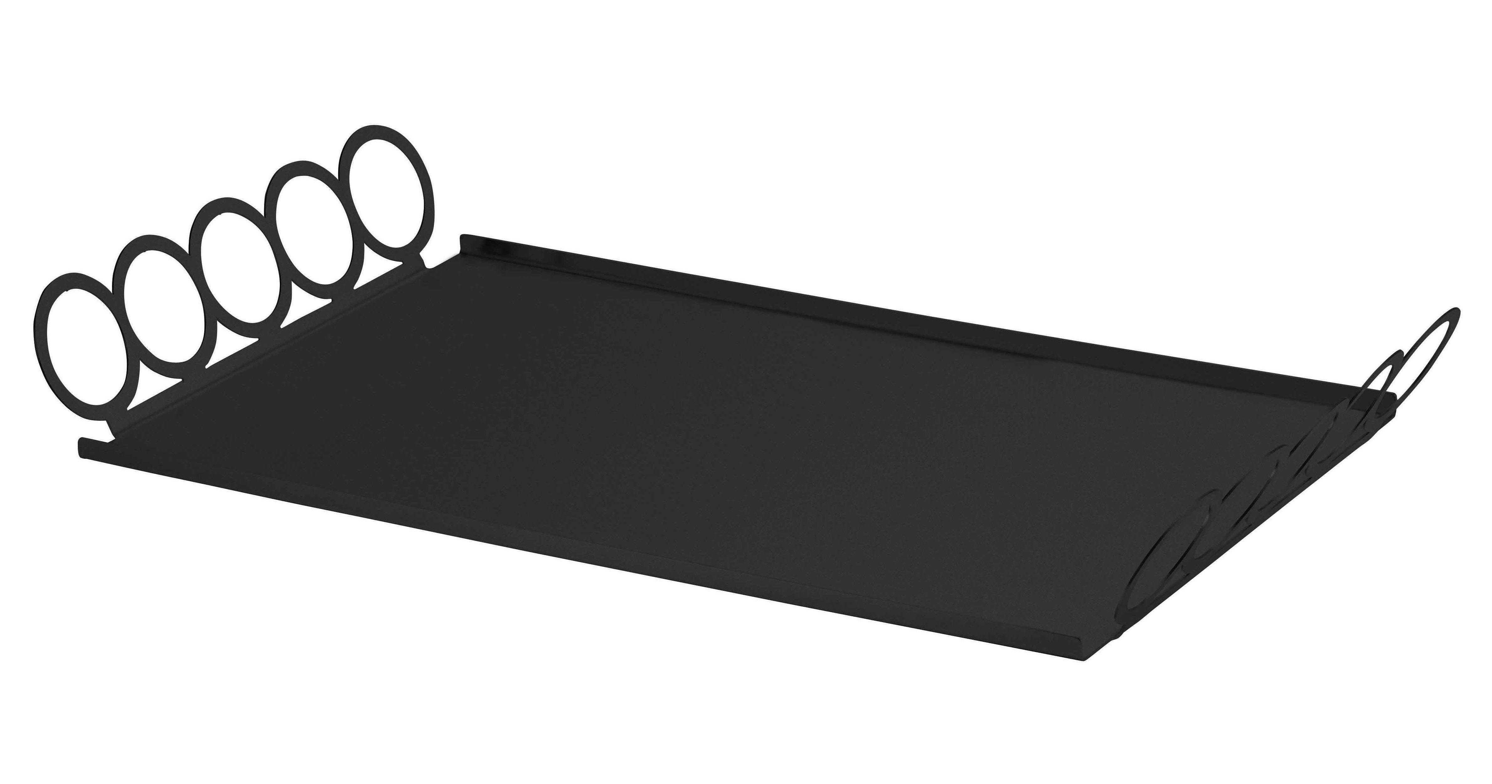 Arts de la table - Plateaux - Plateau Giocorotondo / 46,5 x 26 cm - Serafino Zani - Acier noir - Acier inoxydable