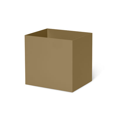 Pot / Pour jardinière Plant Box - Prof. 25 cm - Ferm Living vert en métal