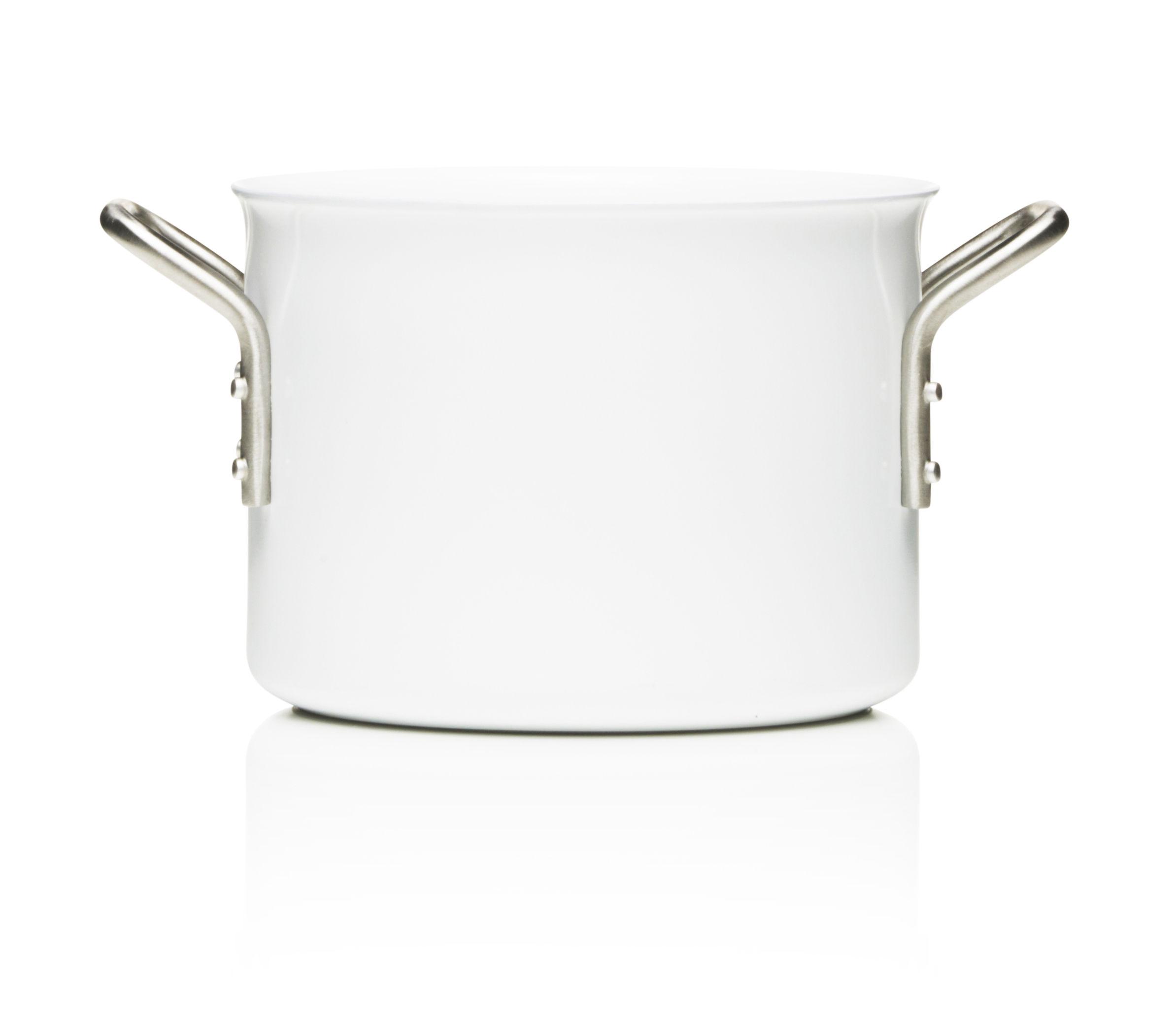 Kitchenware - Pots & Pans - White Line Saucepan - 2,5L - Web exclusivity by Eva Trio - White - Aluminium, Ceramic, Stainless steel