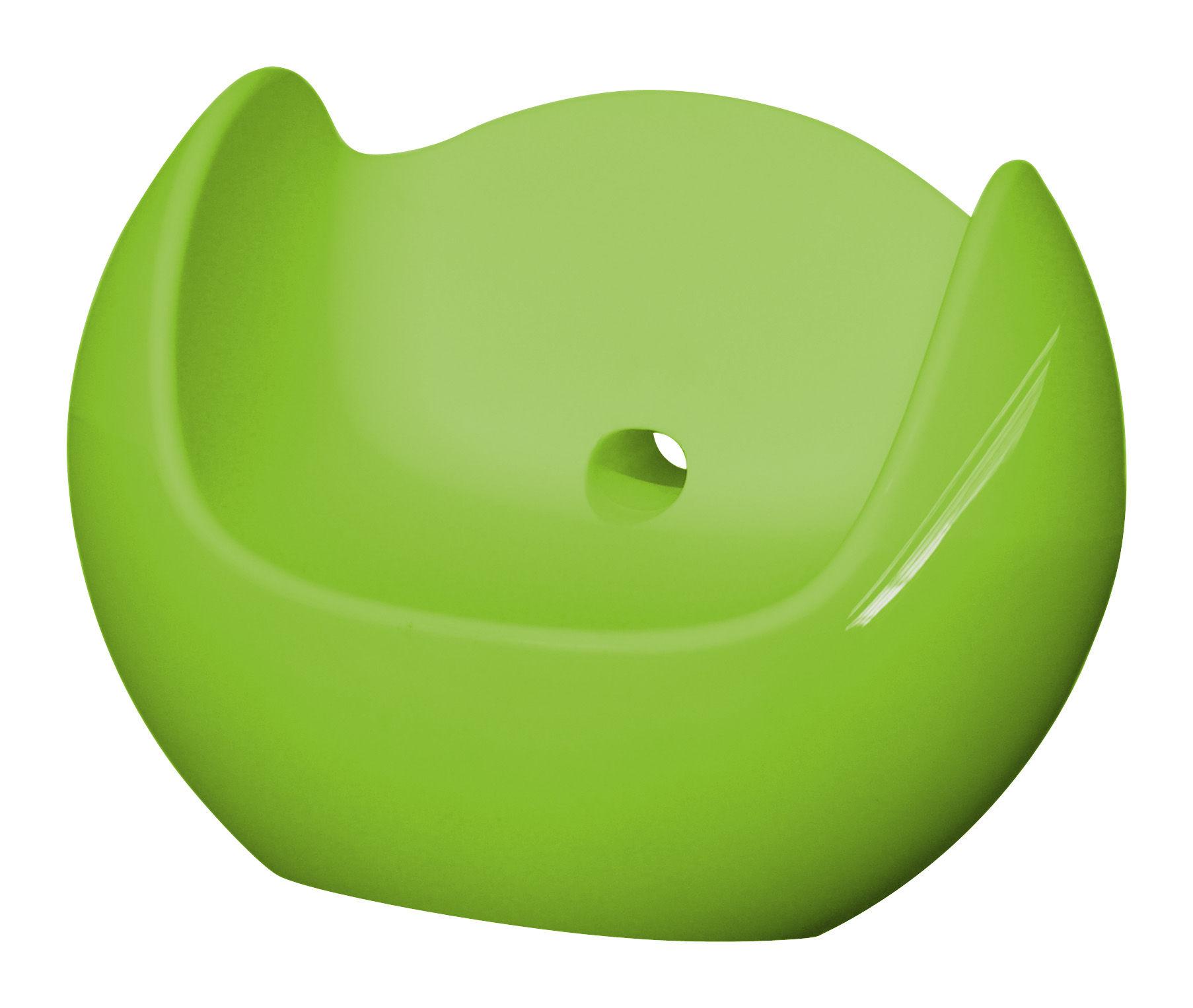 Möbel - Möbel für Teens - Blos Schaukelstuhl lackiert - Slide - Grün lackiert - lackiertes Polyäthylen