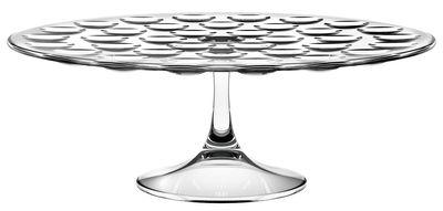Tischkultur - Platten - Bolle Servierplatte / mit Standfuß - Italesse - Transparent - Glas