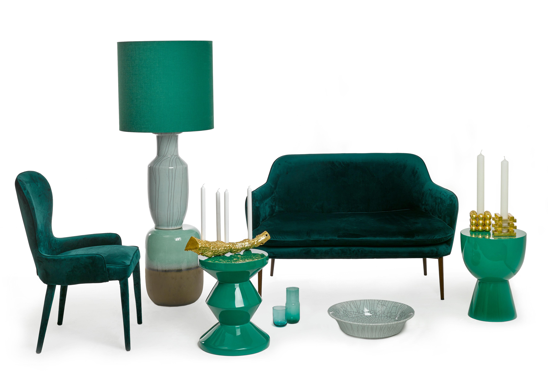 Tam tam sgabello tavolino plastica verde smeraldo by pols