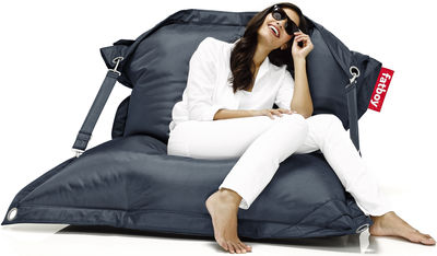 Möbel - Sitzkissen - Buggle-up Sitzkissen für den Außeneinsatz - Fatboy - Dunkelblau - Polyesterfaser