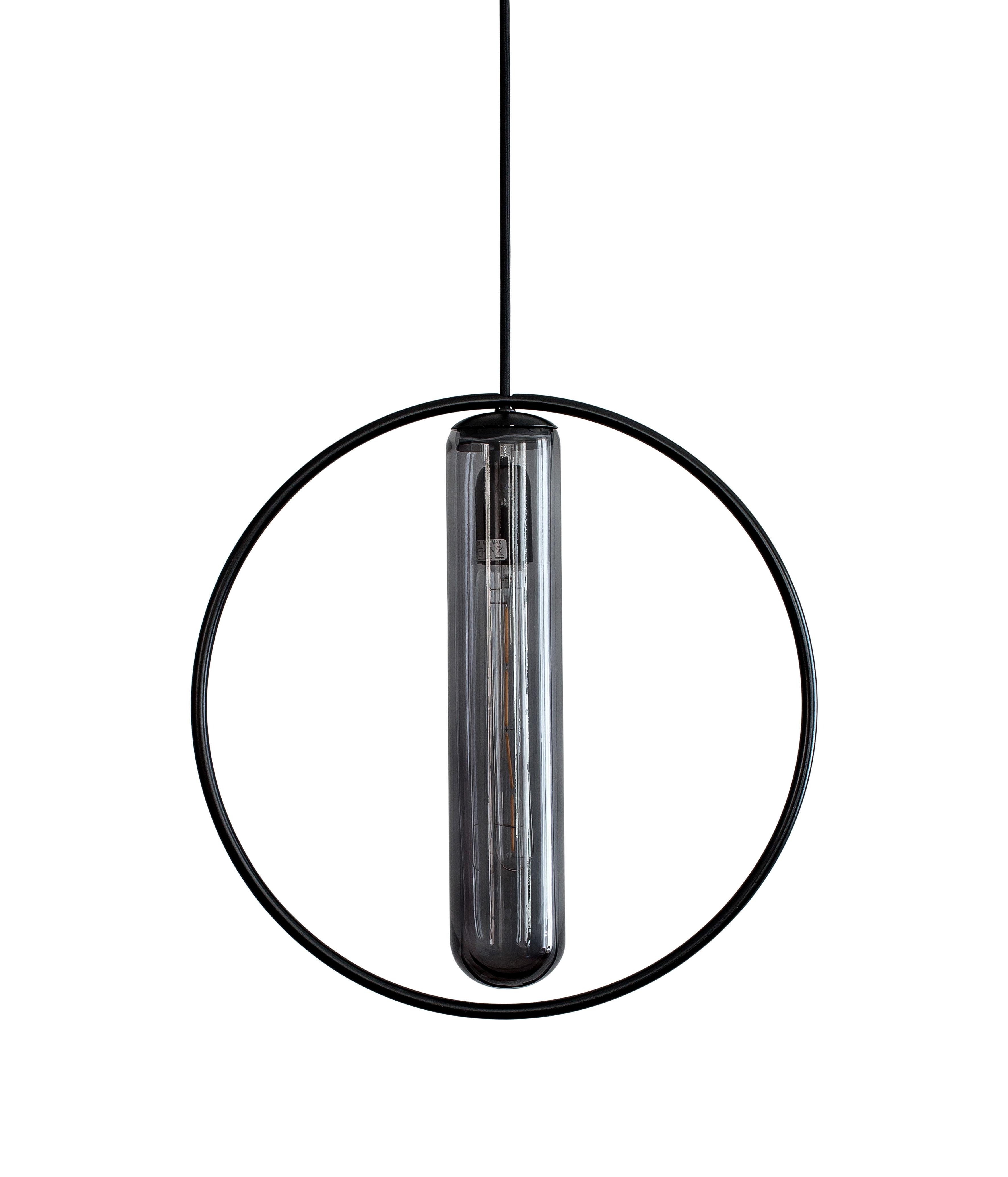 Illuminazione - Lampadari - Sospensione Astrée - / Ø 36 cm di Hartô - Nero - metallo laccato, vetro soffiato
