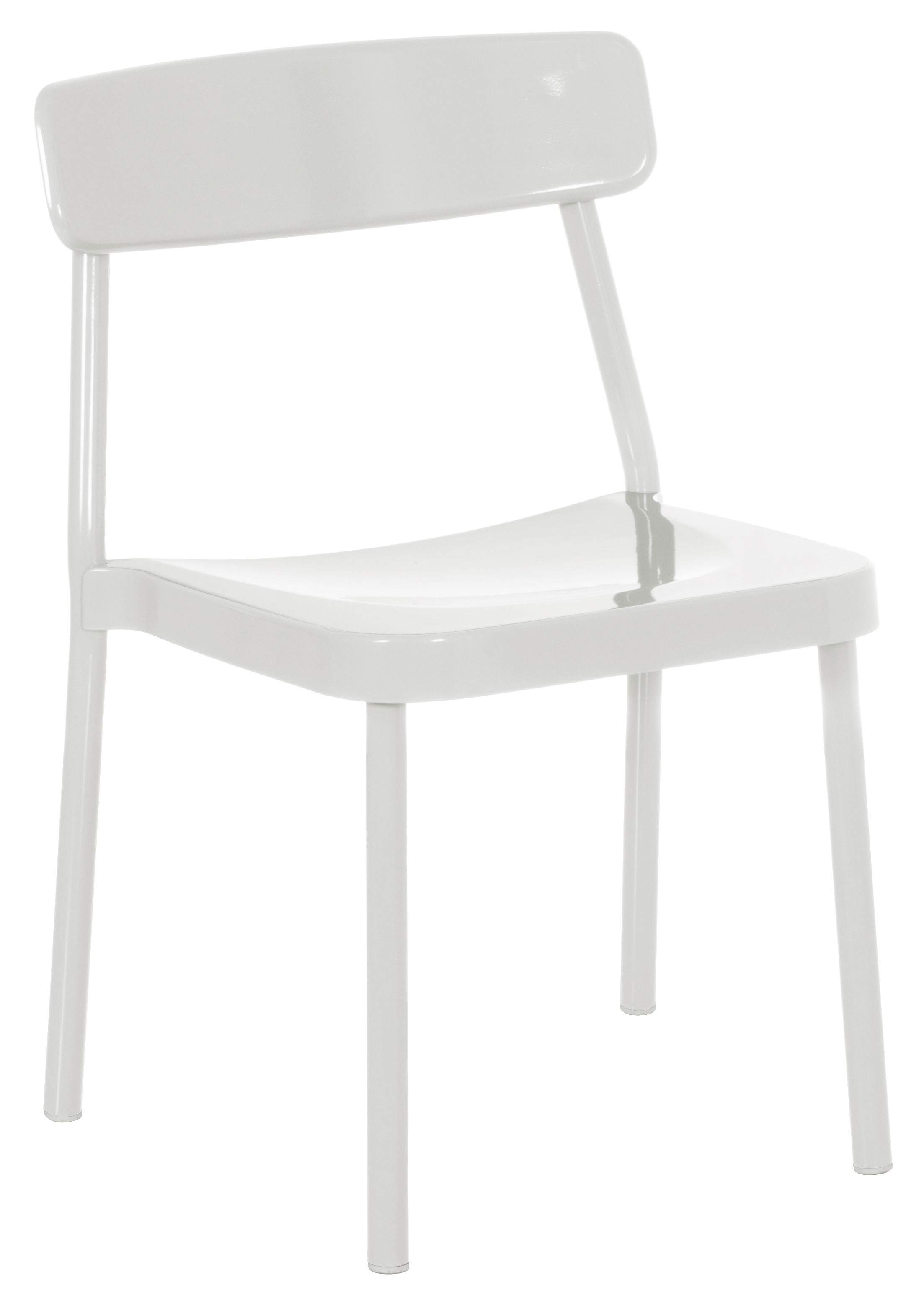 Furniture - Chairs - Grace Outdoor Stacking chair - Metal by Emu - White - Varnished aluminium