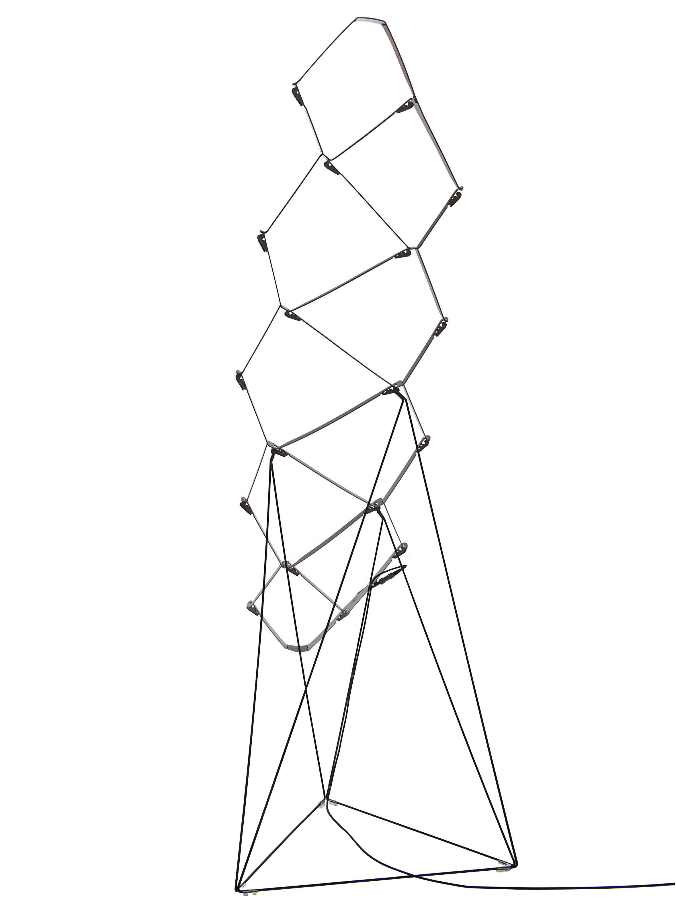 Leuchten - Stehleuchten - Nothing Stehleuchte LED - H 110 cm - Luceplan - Schwarz - Aluminium, Stahl