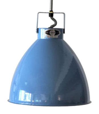 Suspension Augustin XL Ø 54 cm - Jieldé bleu brillant en métal