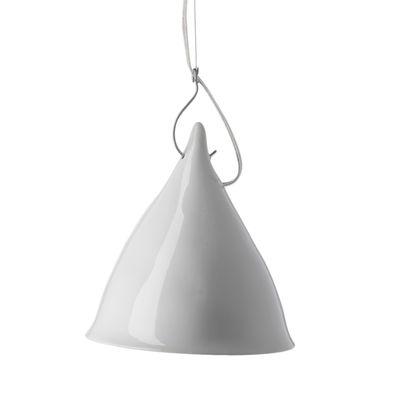 Suspension Très grande Cornette - Tsé-Tsé blanc brillant en céramique