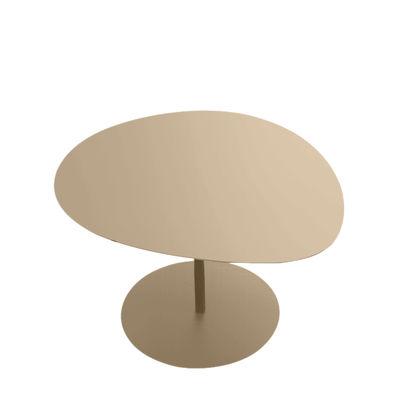 Table basse Galet n°3 / OUTDOOR - 57 x 64 cm - H 37,5 cm - Matière Grise sable en métal
