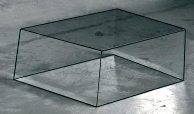 Table basse Wireframe 60 x 57 cm - Glas Italia noir/transparent en verre