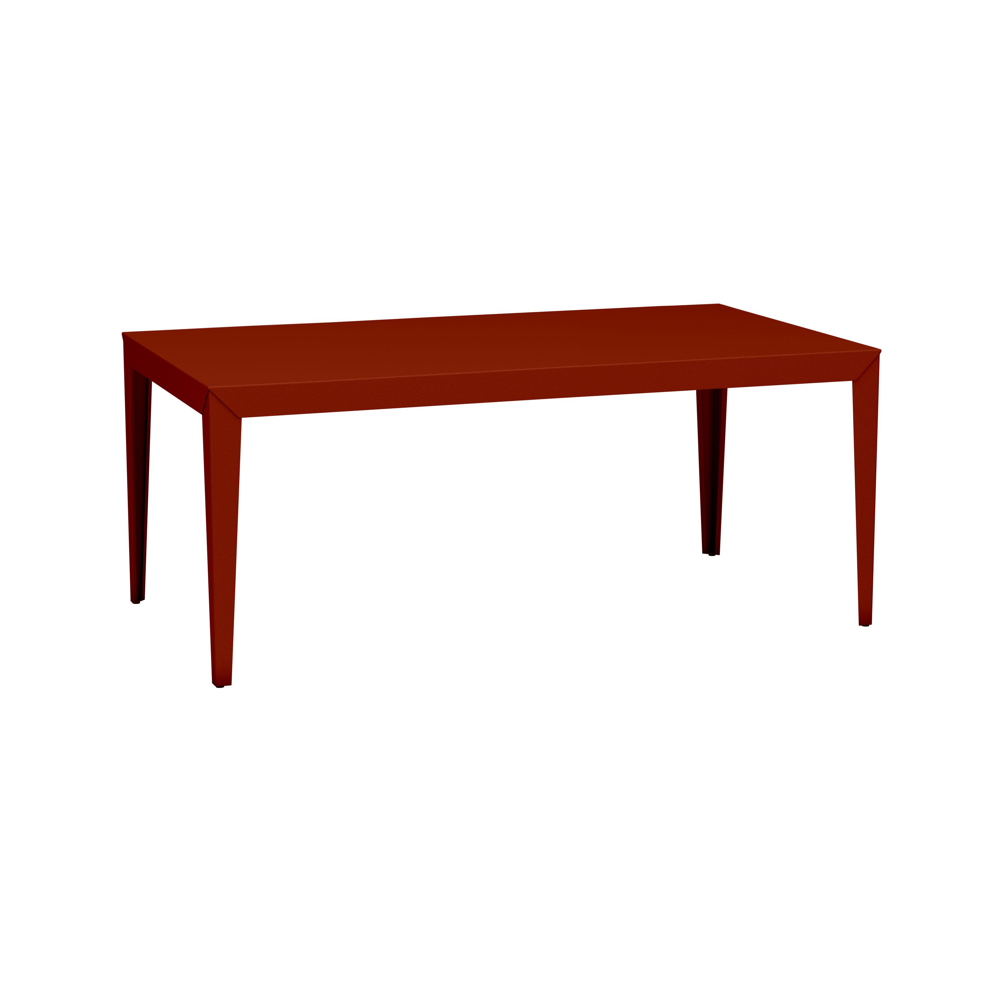 Table rectangulaire Zef INDOOR / 180 x 90 cm - Acier - Matière Grise rouge/orange/marron en métal