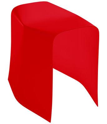 Mobilier - Tabourets bas - Tabouret Foldstool / H 42 cm - Plastique - Spécimen Editions - Rouge - PVC