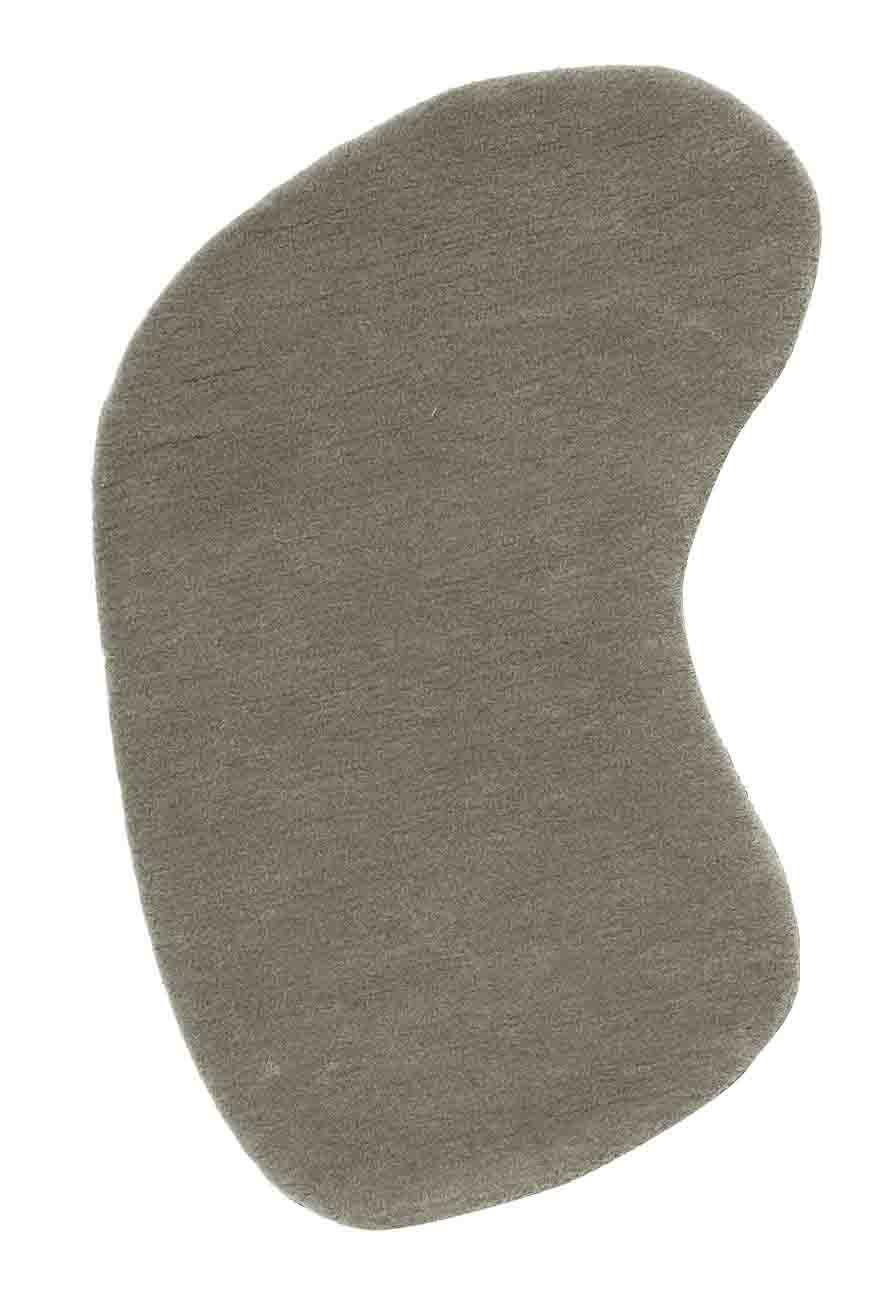 Mobilier - Tapis - Tapis Little Stone 10 / 70 x 85 cm - Nanimarquina - 70 x 85 cm - Gris-souris - Laine