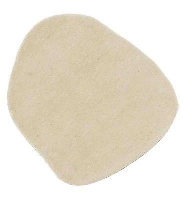 Arredamento - Tappeti  - Tappeto Little Stone 7 - 70 x 80 cm di Nanimarquina - 70 x 80 cm - Ecru - Lana
