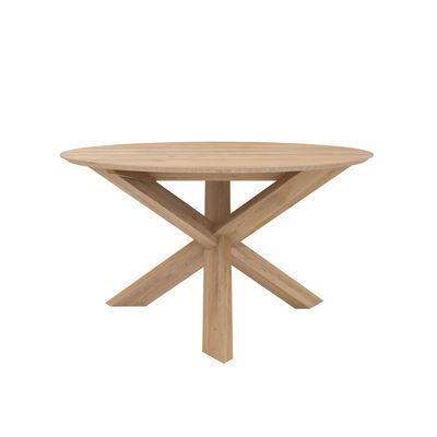Arredamento - Tavoli - Tavolo rotondo Circle - / Rovere massello - Ø 136 cm / 6 persone di Ethnicraft - Ø 136 cm / Rovere - Rovere massello