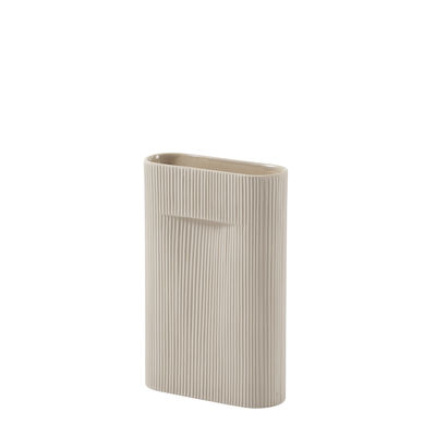 Déco - Vases - Vase Ridge Medium / H 35 cm - Terre cuite - Muuto - Beige - Faïence
