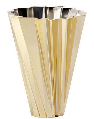 Dekoration - Vasen - Shanghai Vase / metallic - Kartell - Goldfarben - PMMA