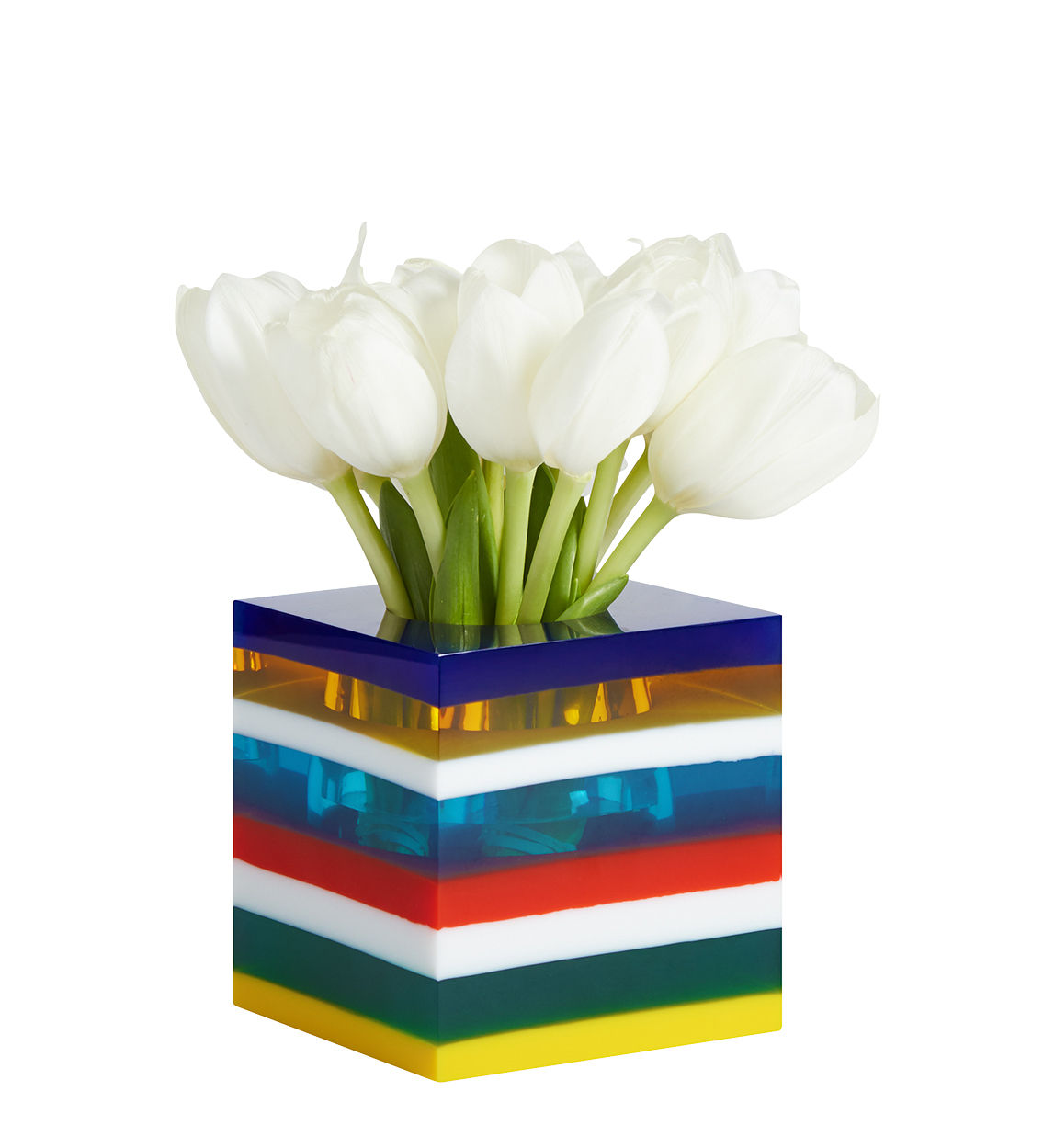 Decoration - Vases - Stacked Bel Air Vase - / Hand-made by Jonathan Adler - Multicoloured - Acrylic