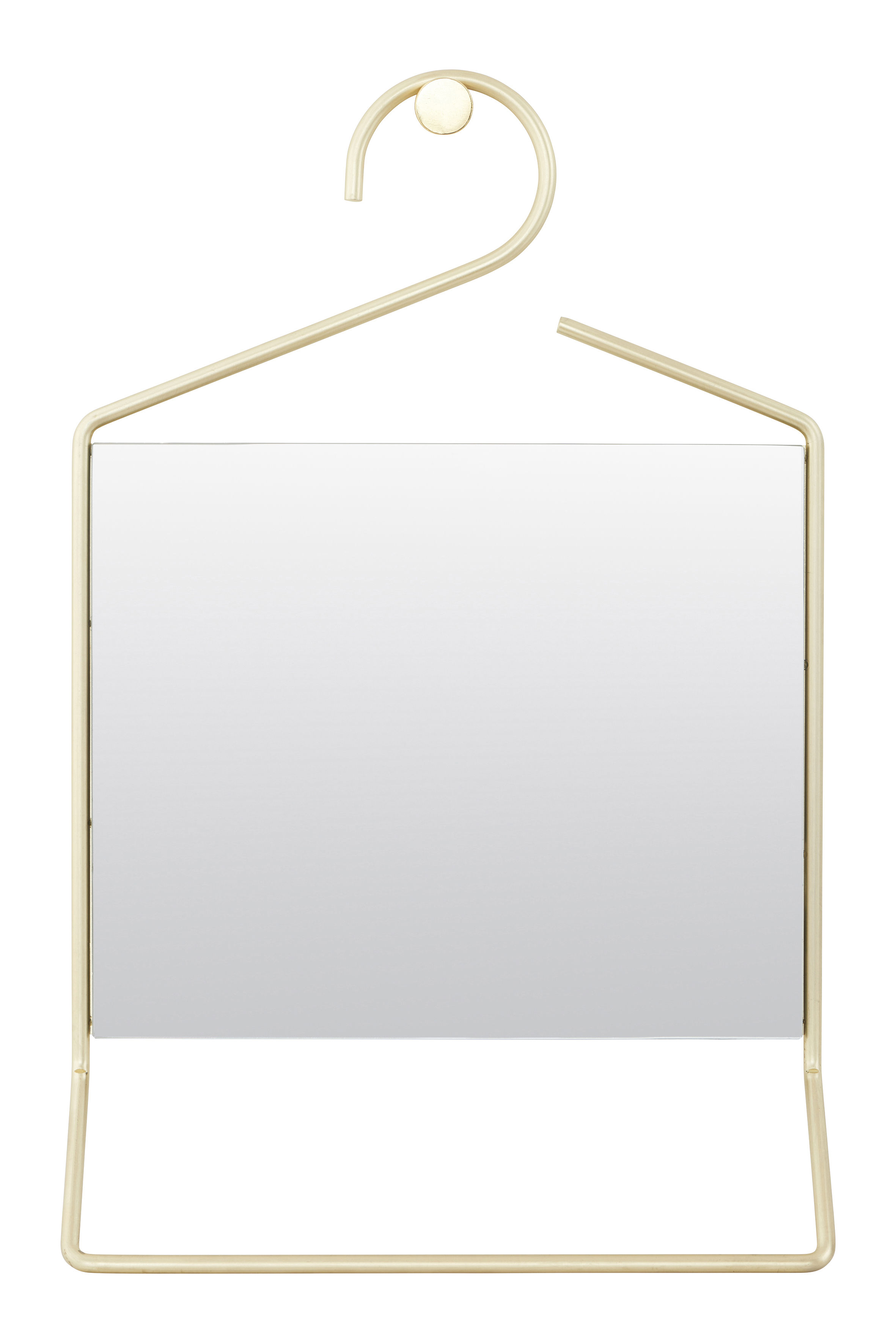 Decoration - Mirrors - Hang Wall mirror - L 32 x H 50 cm by House Doctor - Brass - Brass finish metal, Glass