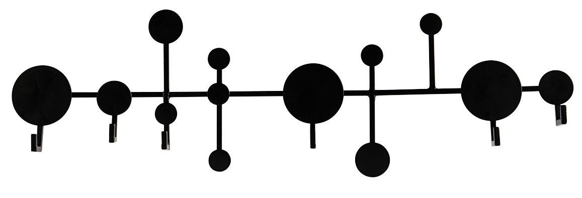 Möbel - Garderoben und Kleiderhaken - Circles Wandgarderobe / Metall - L 65 cm - House Doctor - Schwarz - Eisen