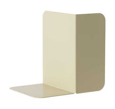 Accessories - Desk & Office Accessories - Compile Book end - Metal by Muuto - Beige-green - Lacquered steel
