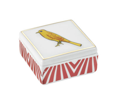 Decoration - Decorative Boxes - Bel Paese - Uccellino Box - / Porcelain - 6 x 6 cm by Bitossi Home - Bird - China