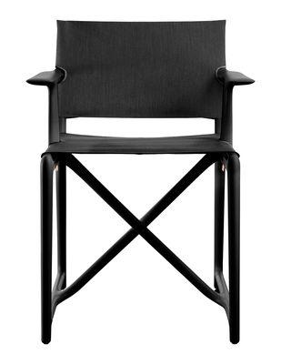 Mobilier - Chaises, fauteuils de salle à manger - Fauteuil pliant Stanley By Philippe Starck / Tissu - Magis - Noir - Polypropylène, Tissu