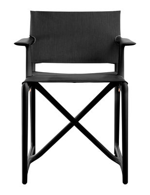 Furniture - Chairs - Stanley Folding armchair - By Philippe Starck - Fabric by Magis - Black - Fabric, Polypropylene