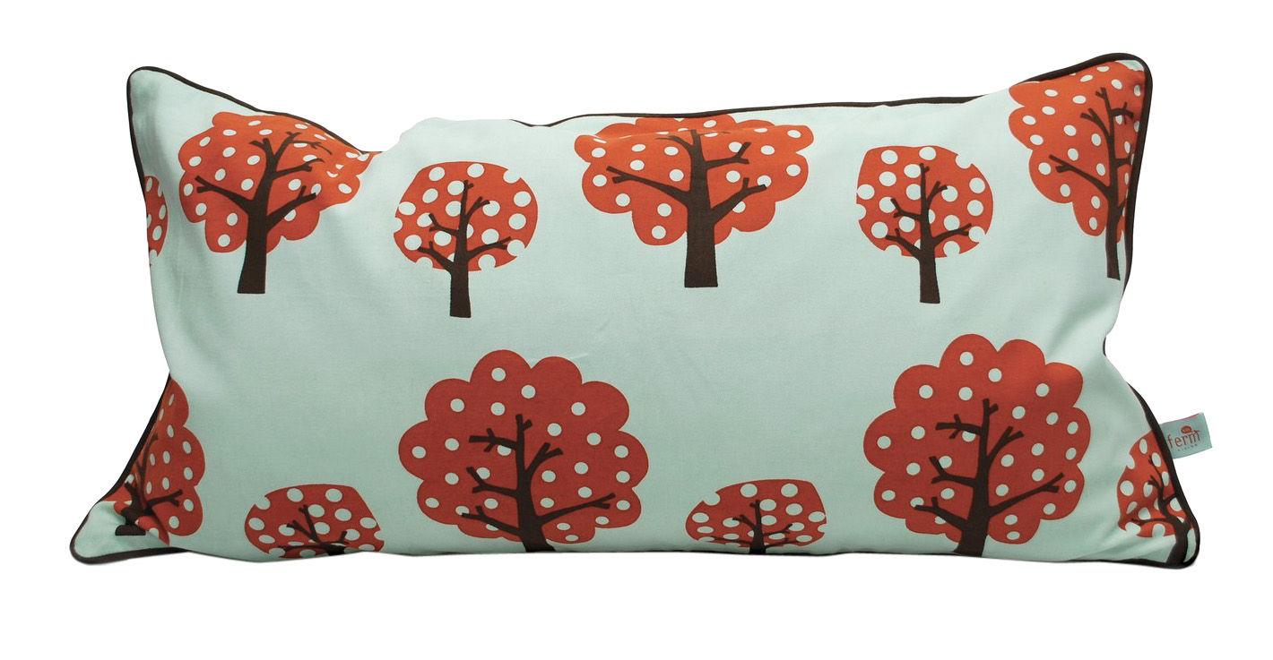 Dekoration - Für Kinder - Dotty Kissen - Ferm Living - Rot und türkis - Baumwolle