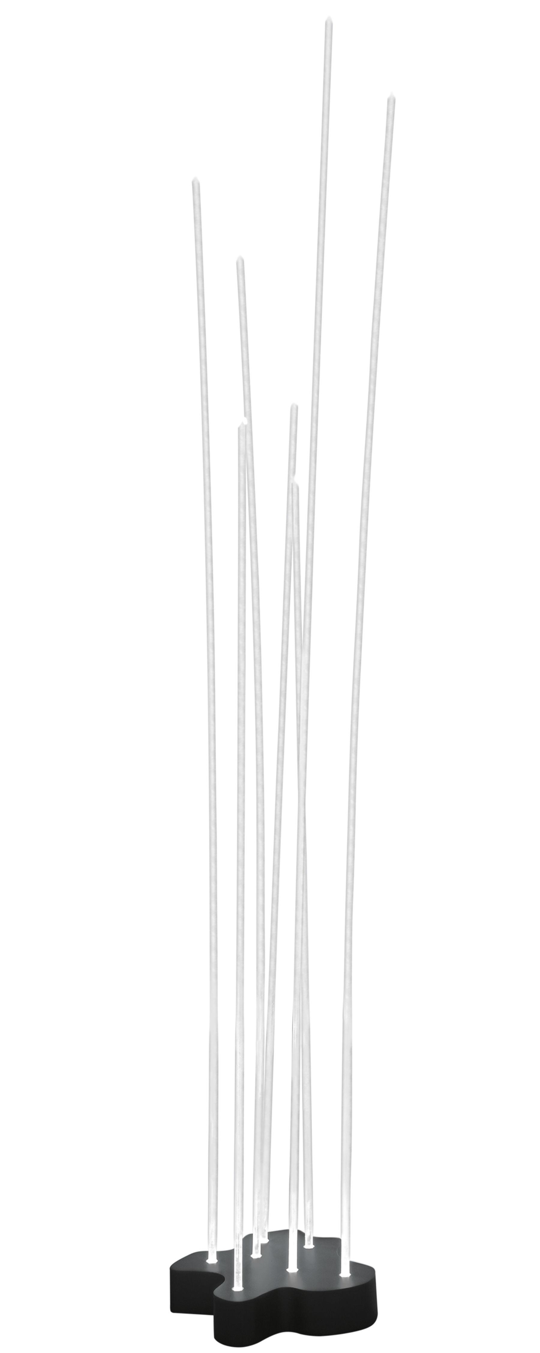 Luminaire - Lampadaires - Lampadaire Reeds LED / 7 tiges - Artemide - Blanc / Base gris anthracite - Acier inoxydable peint, PMMA