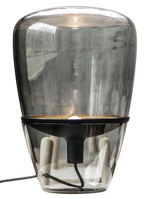 Luminaire - Lampes de table - Lampe à poser Balloon Medium /H 60 cm - Brokis - Verre fumé / Noir - Aluminium peint, Verre soufflé moulé