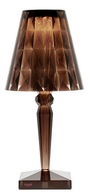 Lampe de table Big Battery LED / H 37 cm - Sur secteur - Kartell marron en matière plastique