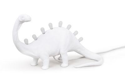 Déco - Pour les enfants - Lampe de table Jurassic / Brontosaurus - Seletti - Brontosaurus / Blanc - Résine
