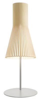 Lampe de table Secto / H 75 cm - Secto Design gris clair,bouleau naturel en bois