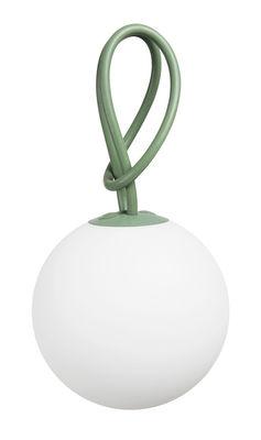 Leuchten - Tischleuchten - Bolleke Lampe ohne Kabel LED - für Haus und Garten - mit USB-Ladefunktion - Fatboy - Grün - Polyäthylen, Silikon