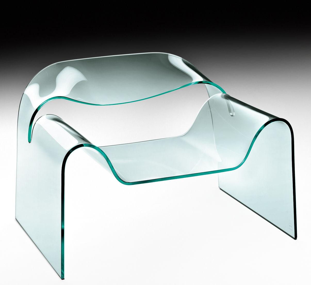 Möbel - Lounge Sessel - Ghost Lounge Sessel - FIAM - Transparent - Glas