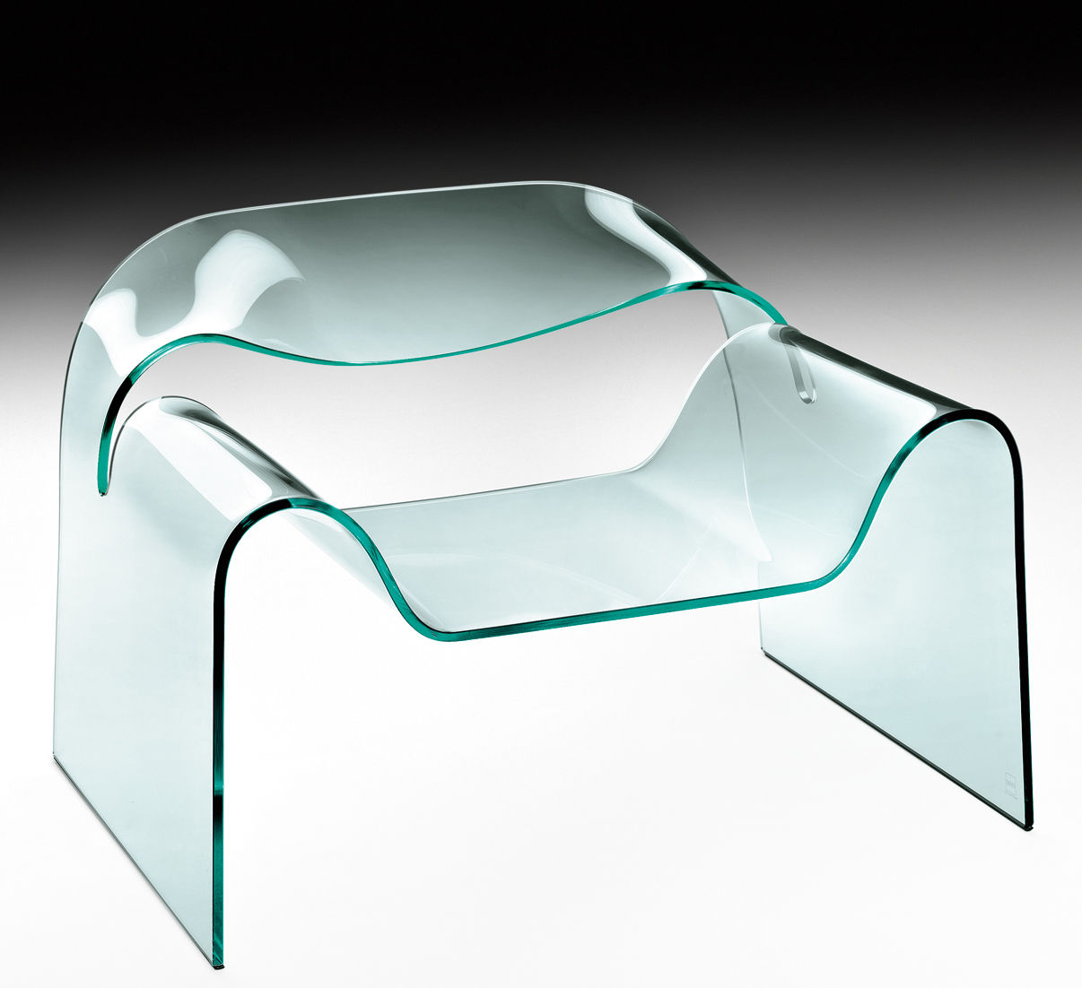 Furniture - Armchairs - Ghost Low armchair by FIAM - Transparent - Glass
