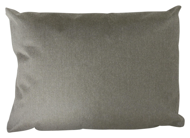 Möbel - Sitzkissen - Small Outdoor-Kissen / outdoorgeeignet - 60 x 45 cm - Trimm Copenhagen - Grau - Leinen