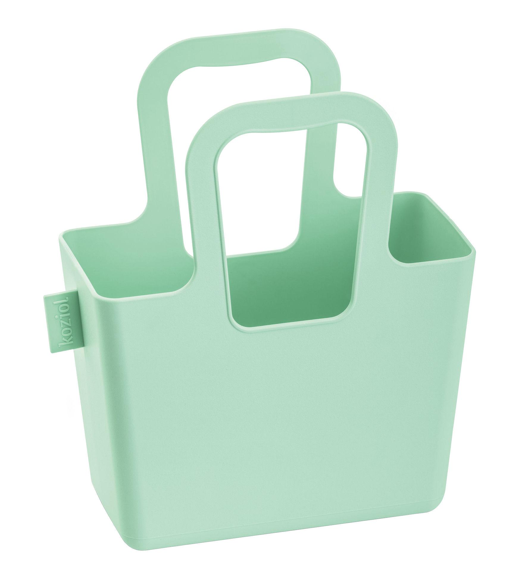 Accessoires - Sacs, trousses, porte-monnaie... - Panier Taschelini / L 18 x H 16 cm - Koziol - Vert menthe - Matière plastique