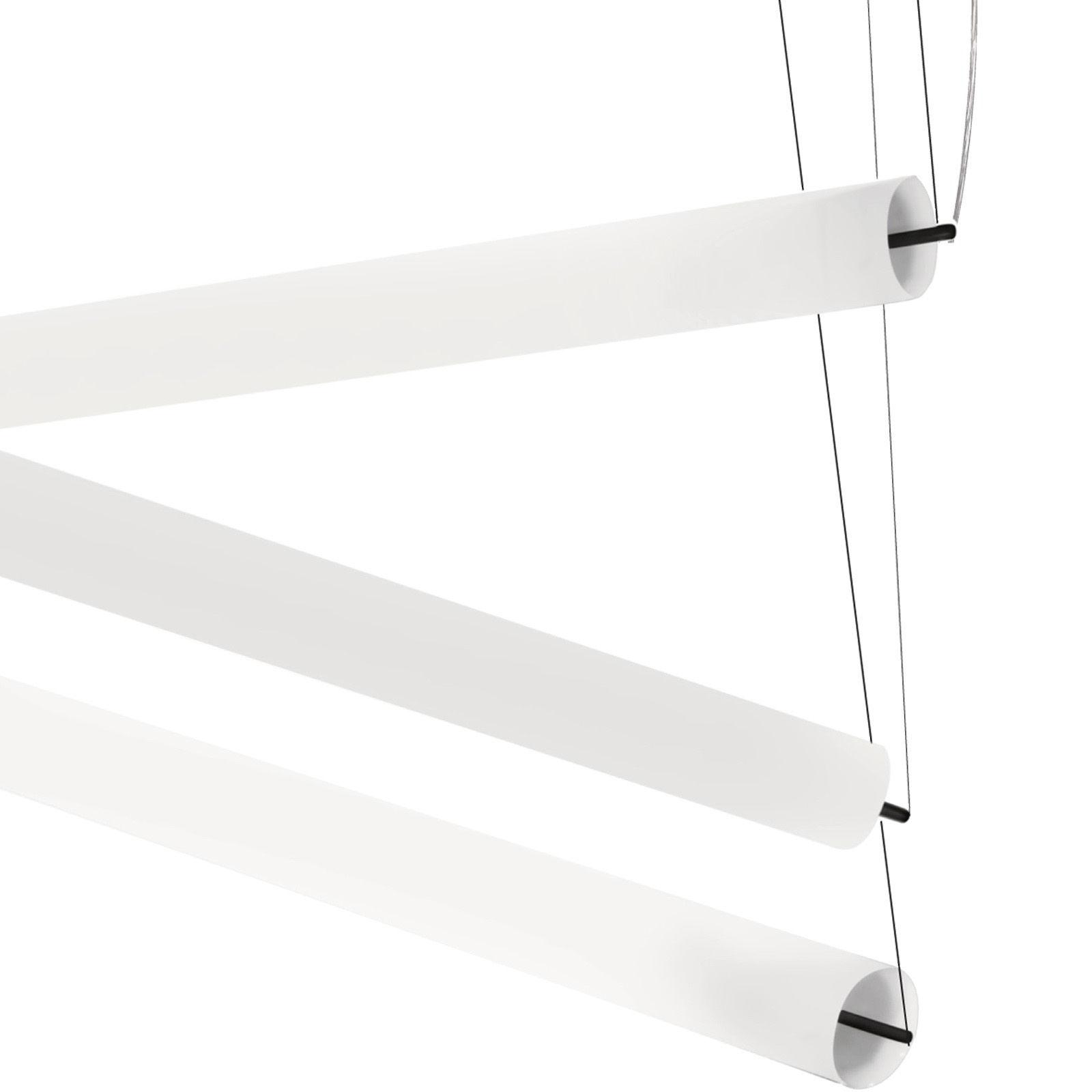 Lighting - Pistillo Pendant - W 180 cm - Modular by Martinelli Luce - White - Methacrylate, Steel