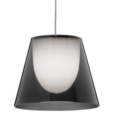 Leuchten - Pendelleuchten - K Tribe S1 Pendelleuchte Ø 24 cm - Flos - Rauchglas-Optik - PMMA, Polykarbonat
