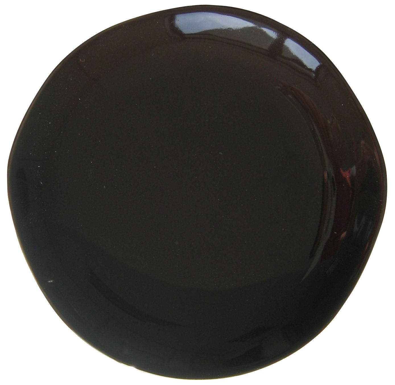 Assiette plate Bazelaire Ø 26 cm - Sentou Edition - noir - Ceramica