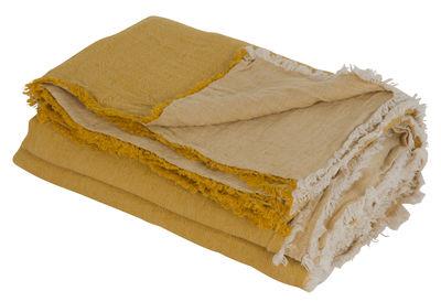 Déco - Textile - Plaid Vice Versa / 140 x 250 cm - Lin - Maison de Vacances - Ocre - Lin Lavé Froissé