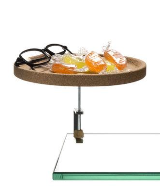 Arts de la table - Plateaux - Plateau Torno / Vide-Poche avec étau - Ø 18 cm - Materia - The Big Design - Liège - Acier, Liège