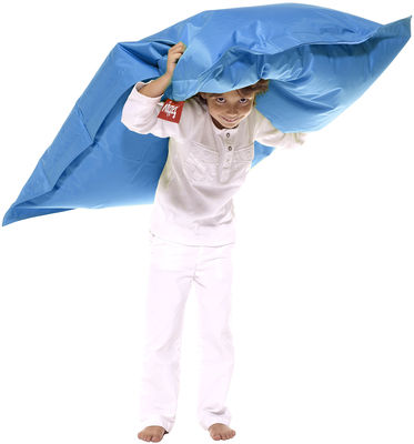 Pouf Junior / Pour enfant - Fatboy Larg 100 x L 130 cm bleu pétrole en tissu