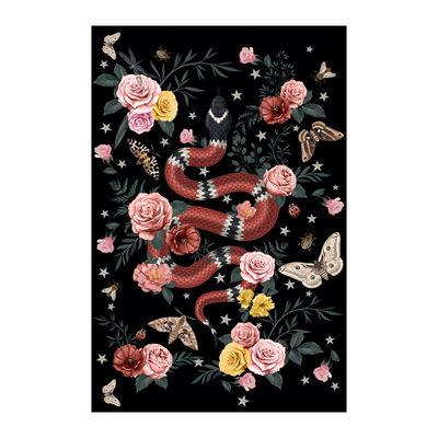 Decoration - Rugs - Serpent Rug - / 198 x 139 cm - Vinyl by PÔDEVACHE - Black - Vinal