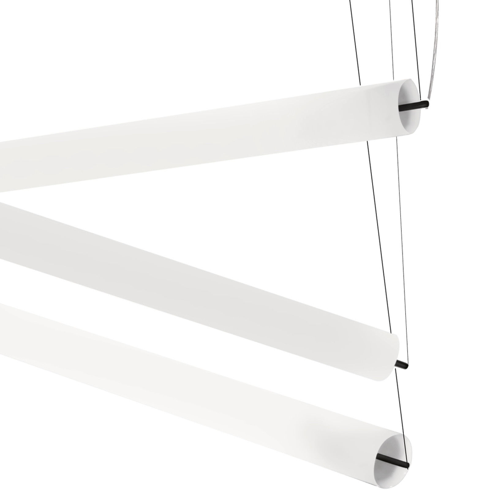 Illuminazione - Sospensione Pistillo - L 180 cm - Modulabile di Martinelli Luce - Bianco - Acciaio, Metacrilato