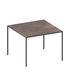 Table carrée Mini Tavolo / Stratifié effet rouille - 69 x 69 cm - Zeus