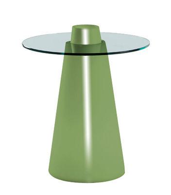Peak Tisch H 80 cm - Slide - Grün lackiert