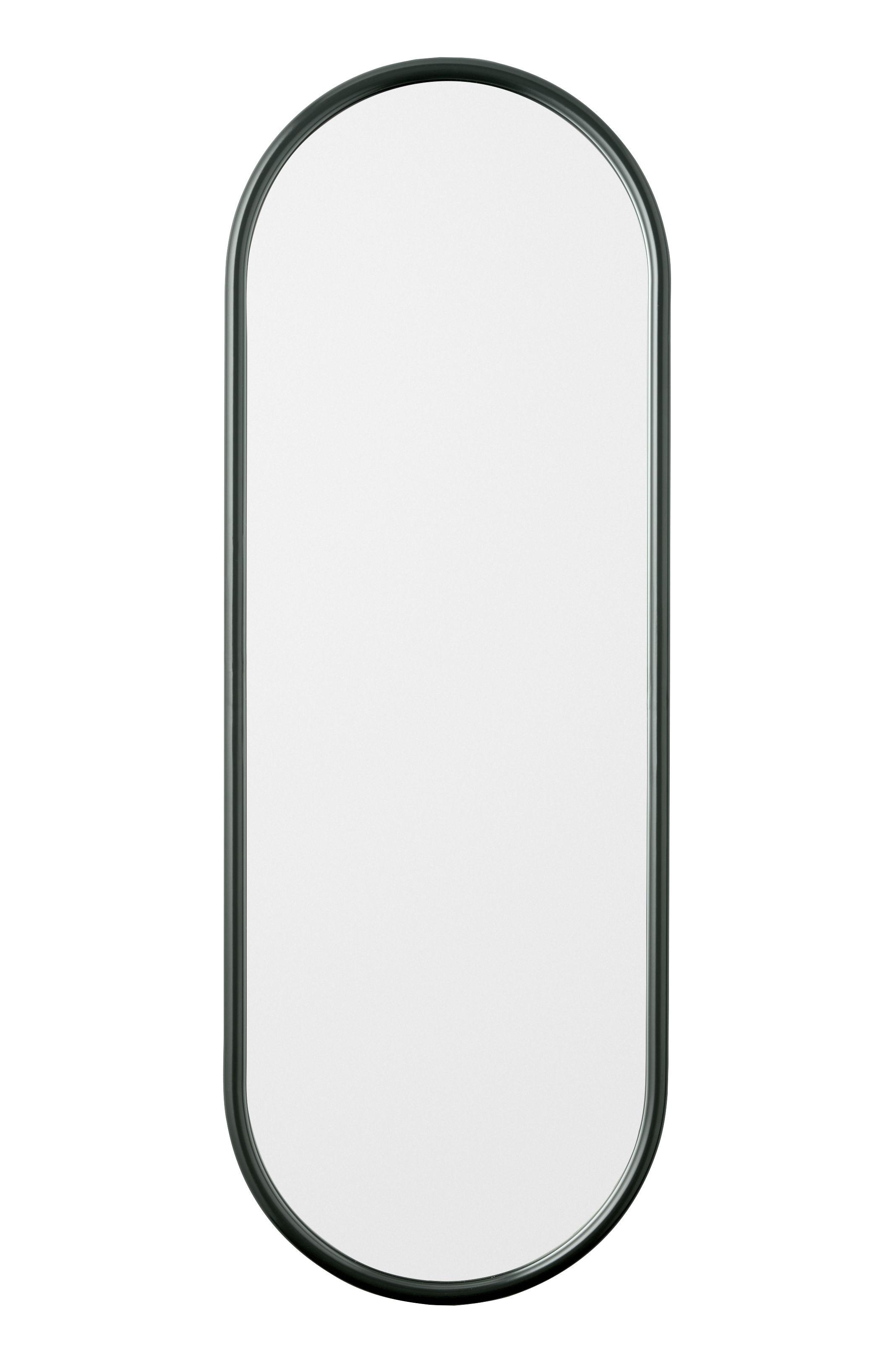 Dekoration - Spiegel - Angui Wandspiegel / L 39 cm x H 108 cm - AYTM - Waldesgrün - Glas, lackiertes Eisen